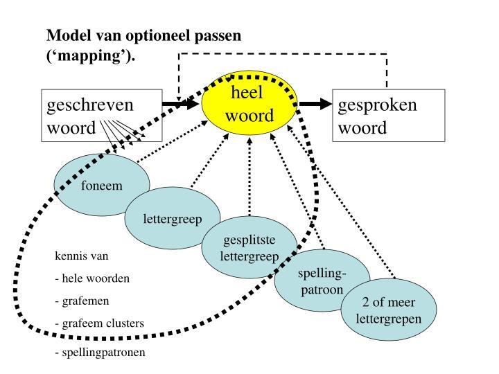 Model van optioneel passen ('mapping').