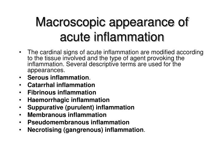 Macroscopic appearance of