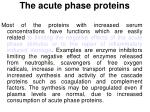 the acute phase proteins1