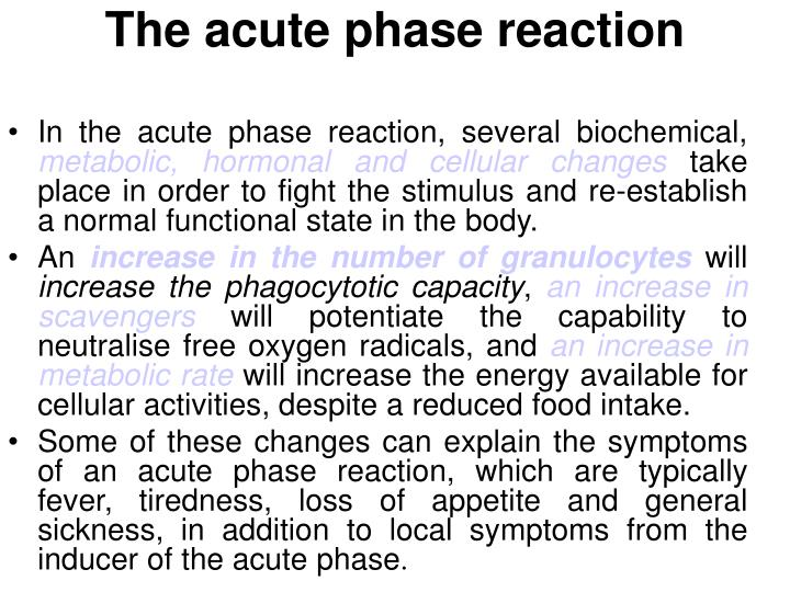 The acute phase reaction