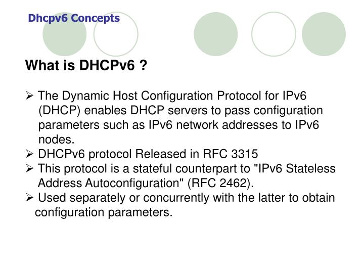 Dhcpv6 Concepts