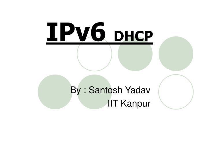 ipv6 dhcp