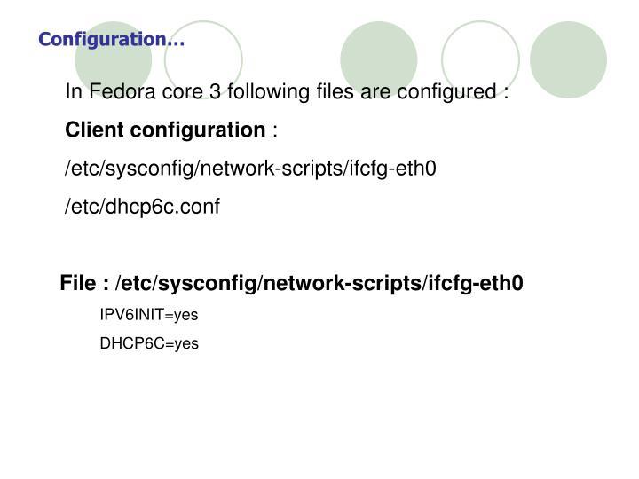 Configuration…