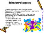 behavioural aspects