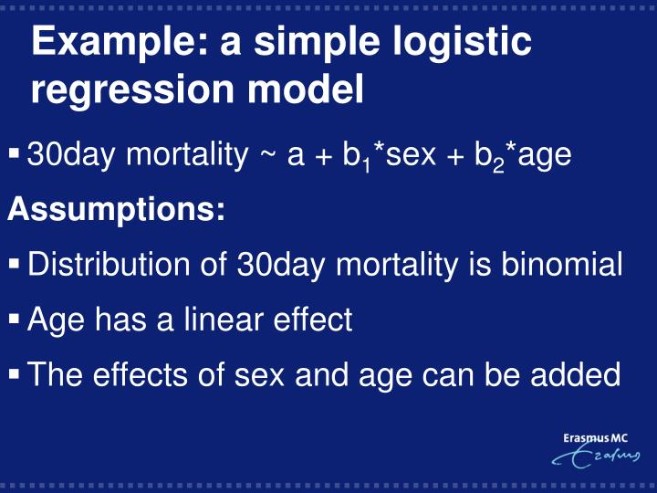 Example: a simple logistic regression model