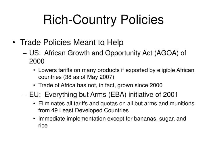 Rich-Country Policies