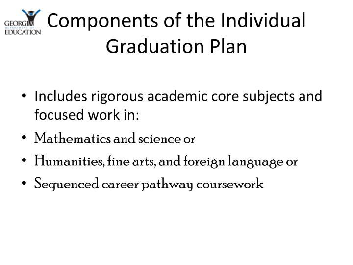 Components of the Individual Graduation Plan