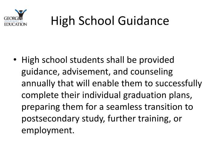 High School Guidance
