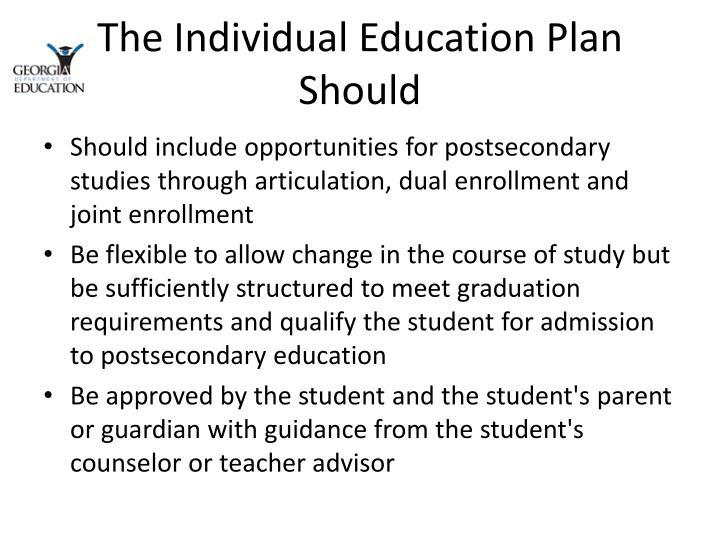 The Individual Education Plan