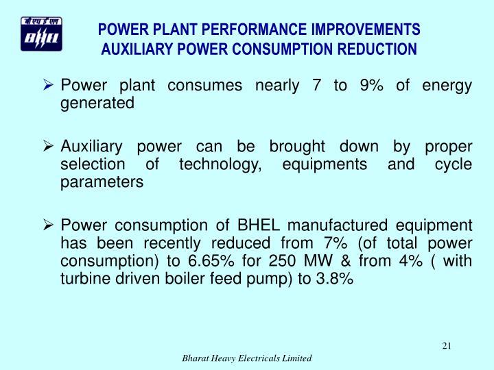 POWER PLANT PERFORMANCE IMPROVEMENTS