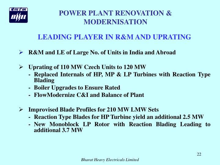 POWER PLANT RENOVATION & MODERNISATION