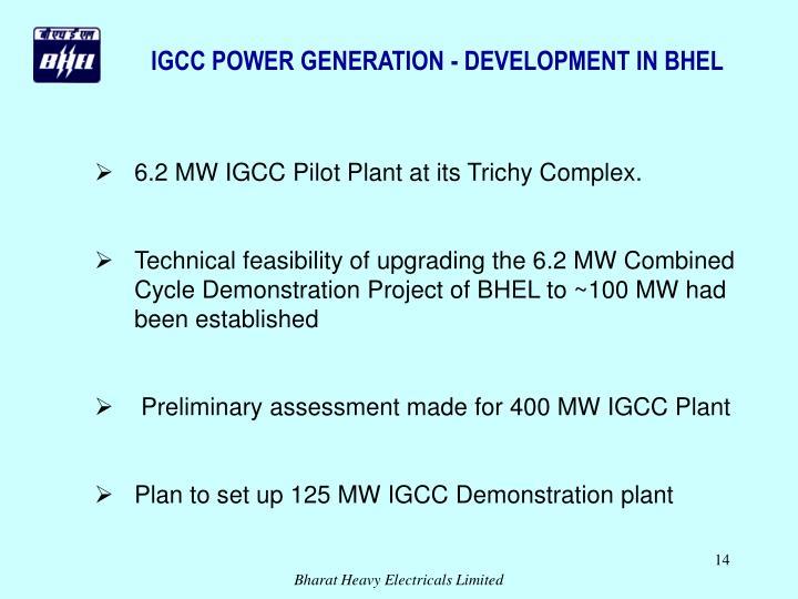IGCC POWER GENERATION - DEVELOPMENT IN BHEL