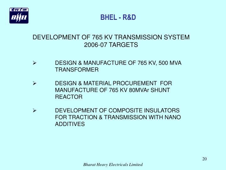 BHEL - R&D