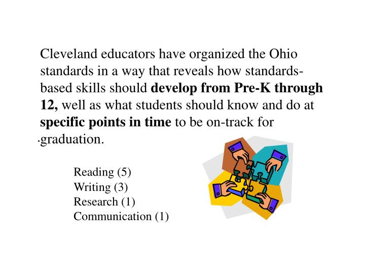 Cleveland educators have organized the Ohio standards in a way that reveals how standards-based skills should