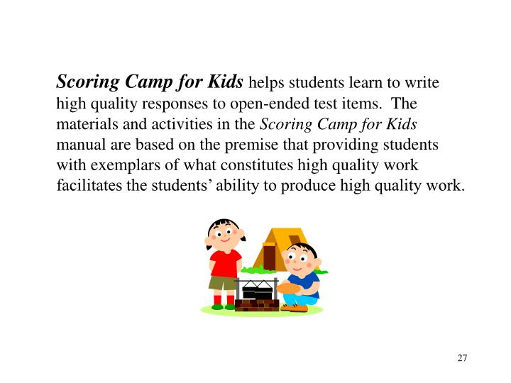 Scoring Camp for Kids