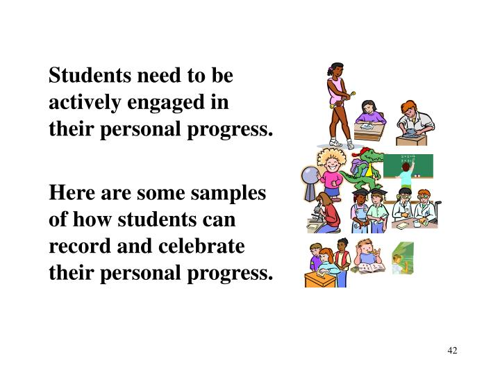 Students need to be actively engaged in
