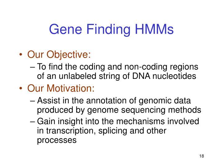 Gene Finding HMMs