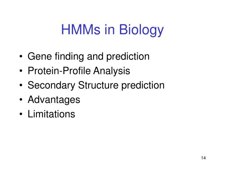 HMMs in Biology
