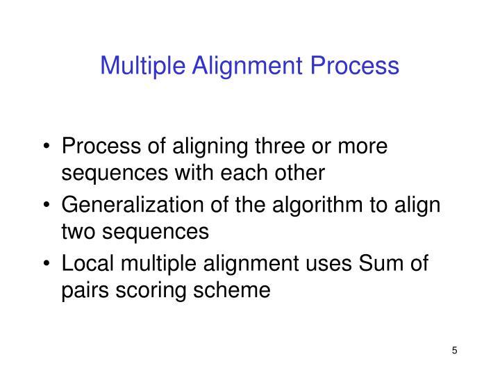 Multiple Alignment Process