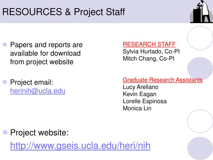 RESOURCES & Project Staff