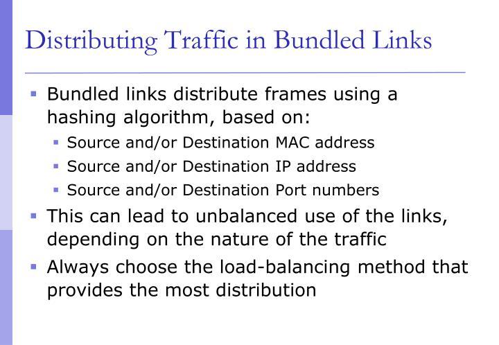 Distributing Traffic in Bundled Links