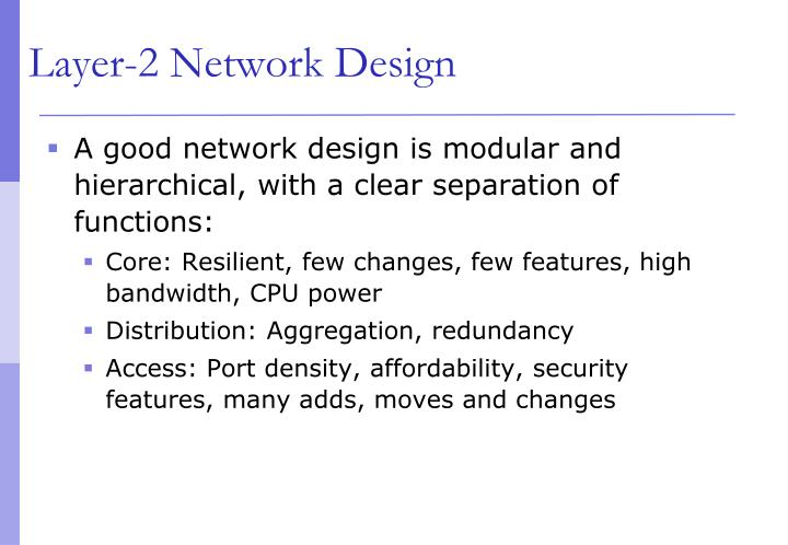 Layer-2 Network Design