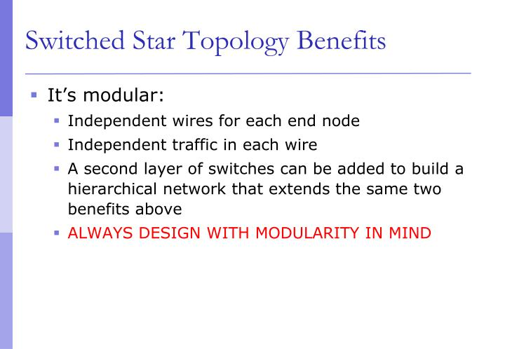 Switched Star Topology Benefits