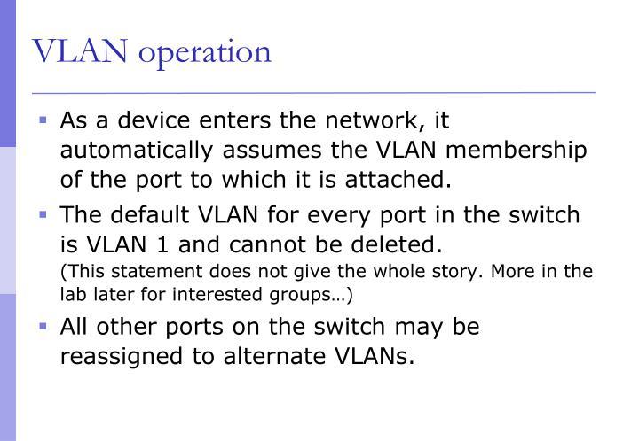 VLAN operation