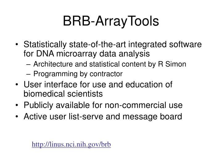 Statistically state-of-the-art integrated software for DNA microarray data analysis