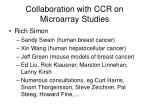 collaboration with ccr on microarray studies