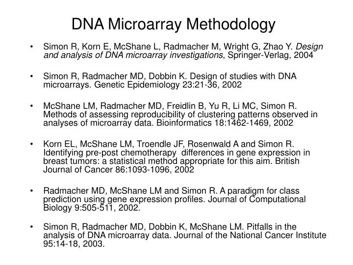 DNA Microarray Methodology
