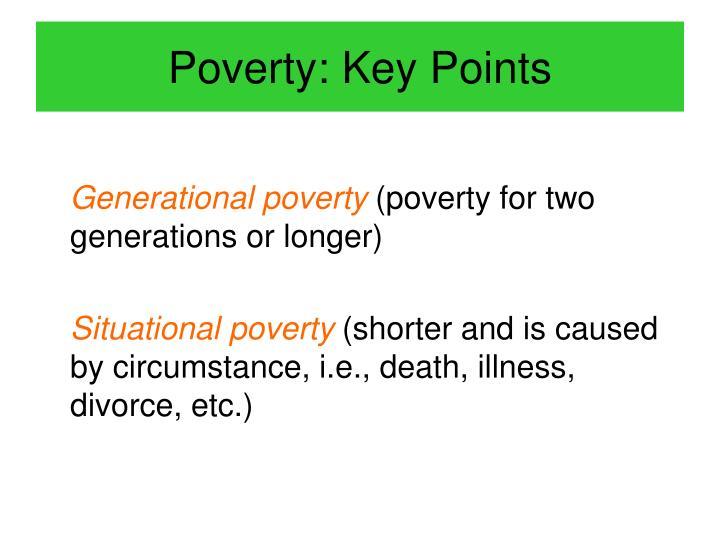 Poverty: Key Points