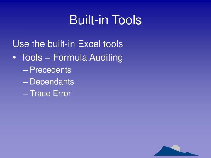 Built-in Tools