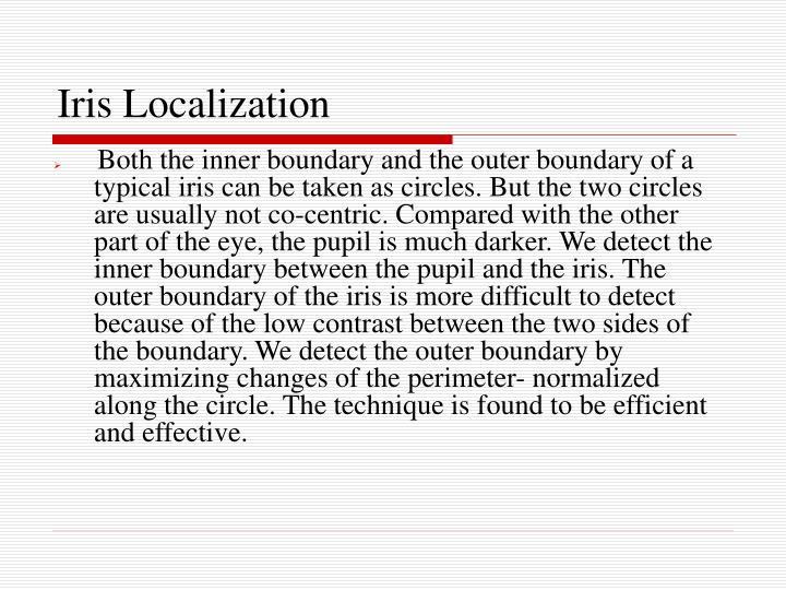 Iris Localization