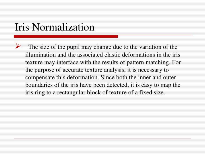 Iris Normalization