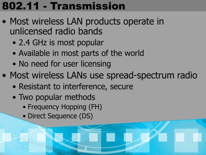 802.11 - Transmission
