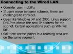 connecting to the wired lan