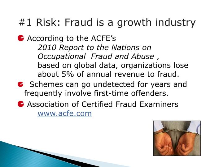 #1 Risk: Fraud is a growth industry