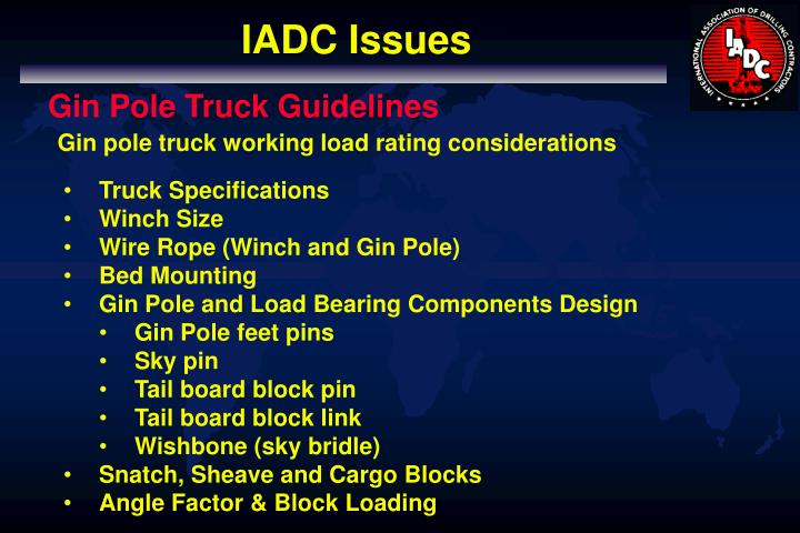 IADC Issues