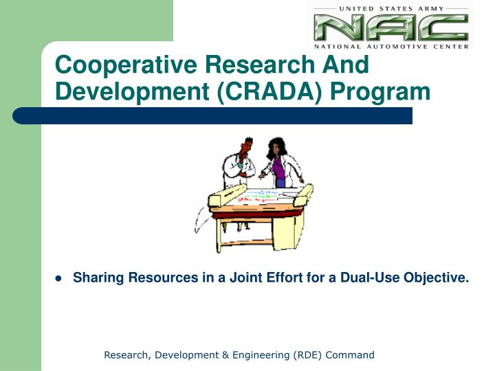 Sharing Resources in a Joint Effort for a Dual-Use Objective.