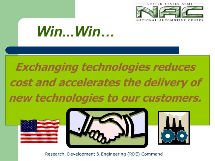 Exchanging technologies reduces
