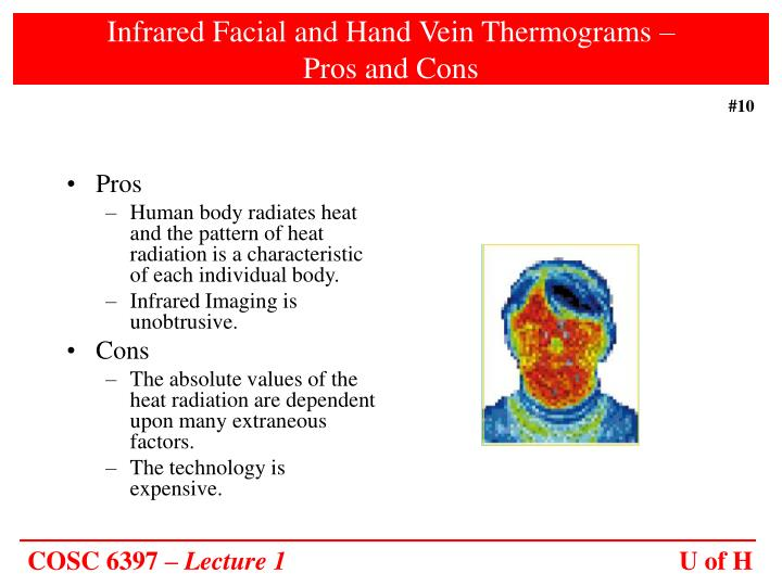 Infrared Facial and Hand Vein Thermograms –