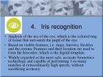 4 iris recognition