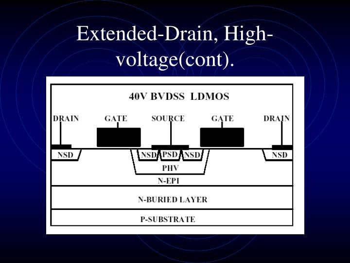 Extended-Drain, High-voltage(cont).
