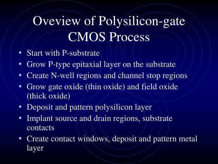 Oveview of Polysilicon-gate CMOS Process