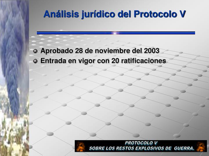 Análisis jurídico del Protocolo V