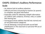 chaps children s auditory performance scale