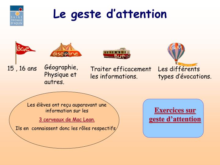 Le geste d attention