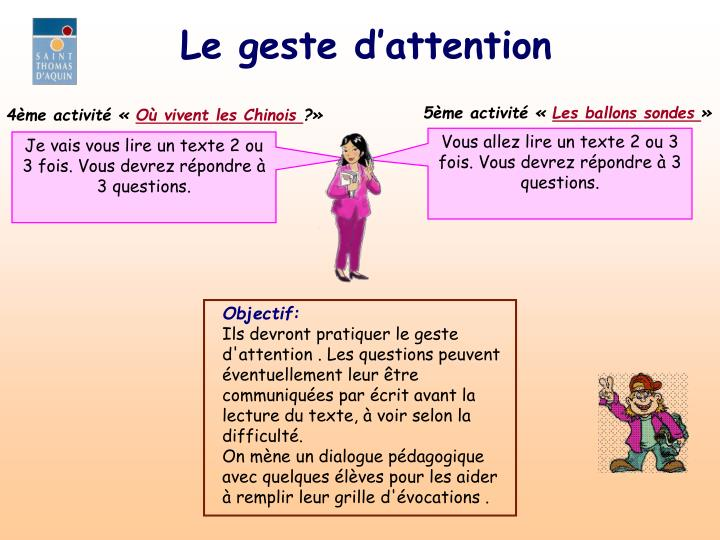Le geste d'attention