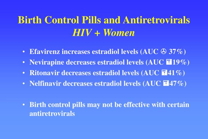 Birth Control Pills and Antiretrovirals